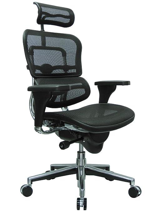 Miraculous Ergohuman High Back Swivel Chair With Headrest Black Mesh Chrome Base Ncnpc Chair Design For Home Ncnpcorg
