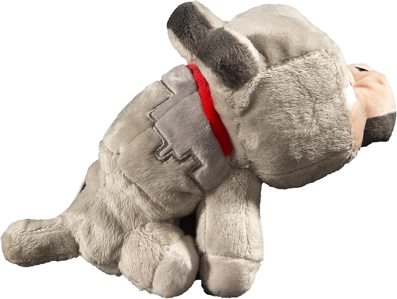 "JINX Minecraft Baby Wolf Plush Stuffed Toy, Gray, 8"" Tall"