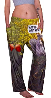 BRIEF INSANITY Comfy Lounge Pajama Pants Fab 4 Abbey Road Graphic Print Bottoms for Men and Women