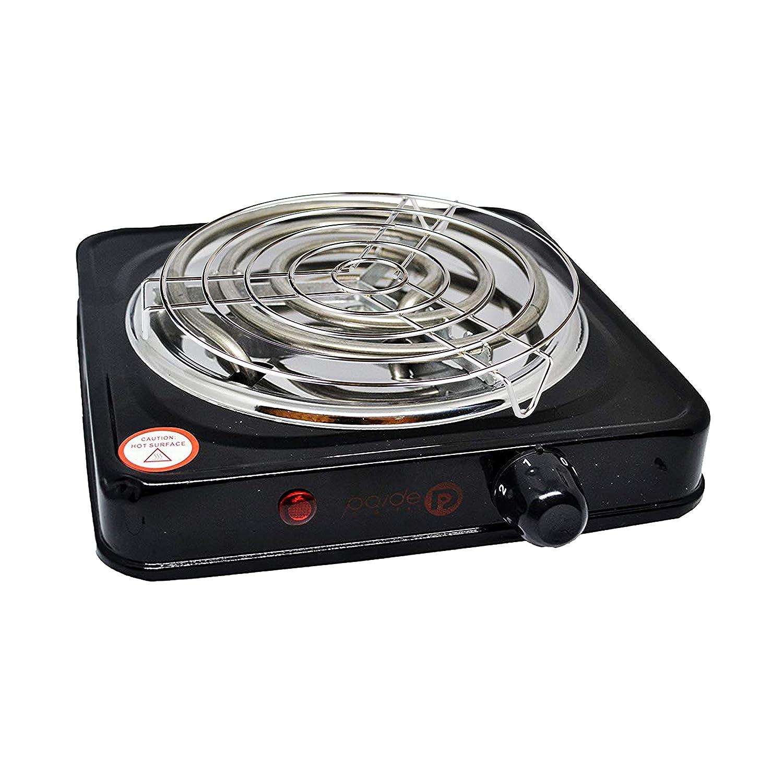 Paide Pack Completo para Shisha, Hornillo 1000W con Rejilla, Regulador de Calor, 50gr de Hierba, 1KG carbón TOM COCOCHA Gold Premium (P1 Negro): Amazon.es: ...
