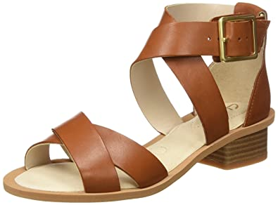 7c1212d84 Clarks Women s Sandcastle Ray Brown Leather Fashion Sandals - 3 UK India  (35.5 EU
