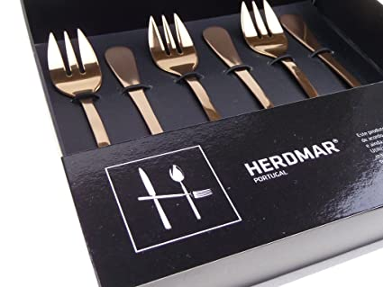 6 tenedores para ostras/Oyster Forks/Rocco Cobre de herdmar