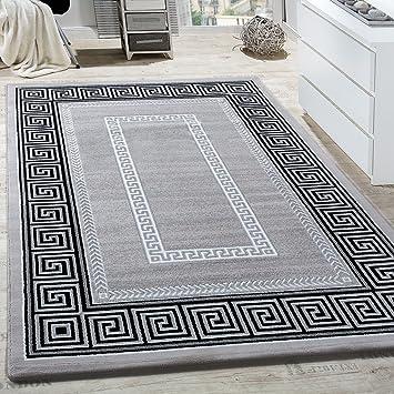 Paco Home Teppich Wohnzimmer Bordüre Ornament Muster Abstrakt Design ...