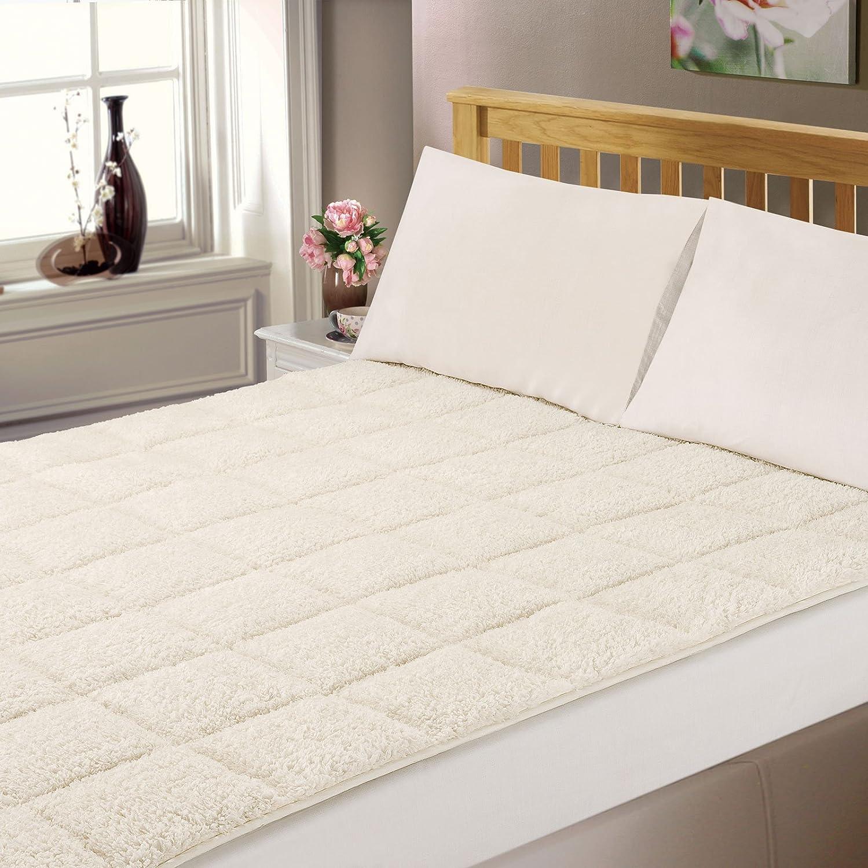 Dreamscene lujo colchón Topper Super Soft Protector para cama King - crema: Amazon.es: Hogar