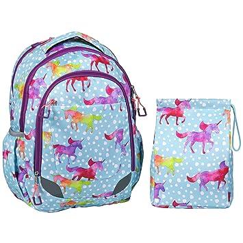 crckt Kids Kit de almuerzo y mochila Set, deseo (unicornio)