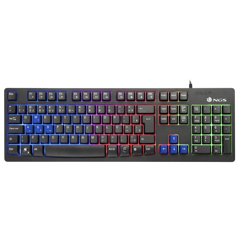 NGS Gaming Keyboard GKX-300 - Teclado Gaming Led, (USB 2.0, 5x50x15cm), color negro: Amazon.es: Informática