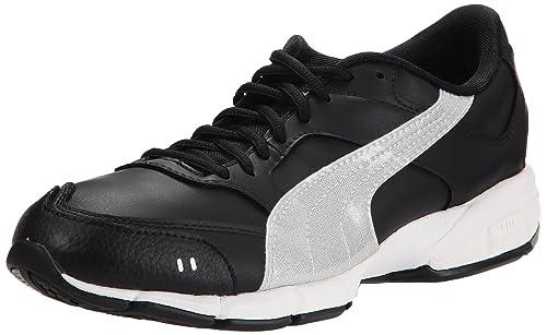 Nero Silver Runner Puma Sneaker black Leather Uomo schwarz qz8xSTwz