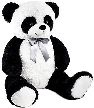 BRUBAKER Peluche gigante XXL - Panda Osito de peluche con cinta - 100 cm