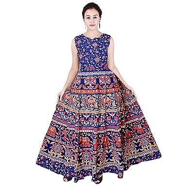 841cfe476dd4 Silver Organisation Women s Long Cotton Maxi Dress Casual Party Wear  (SON 915