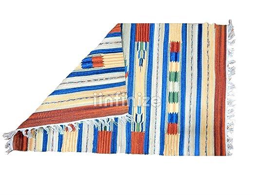 iinfinize - Alfombra de 100% algodón Kilim para Suelo ...