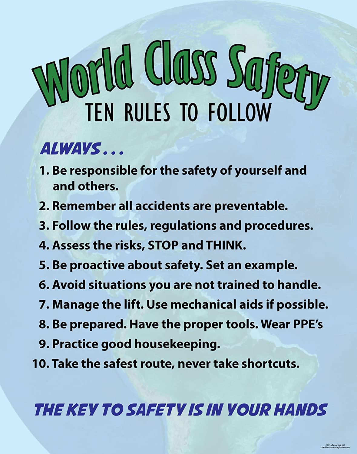 Amazon.com : World Class Safety, Ten Rules : Office Products