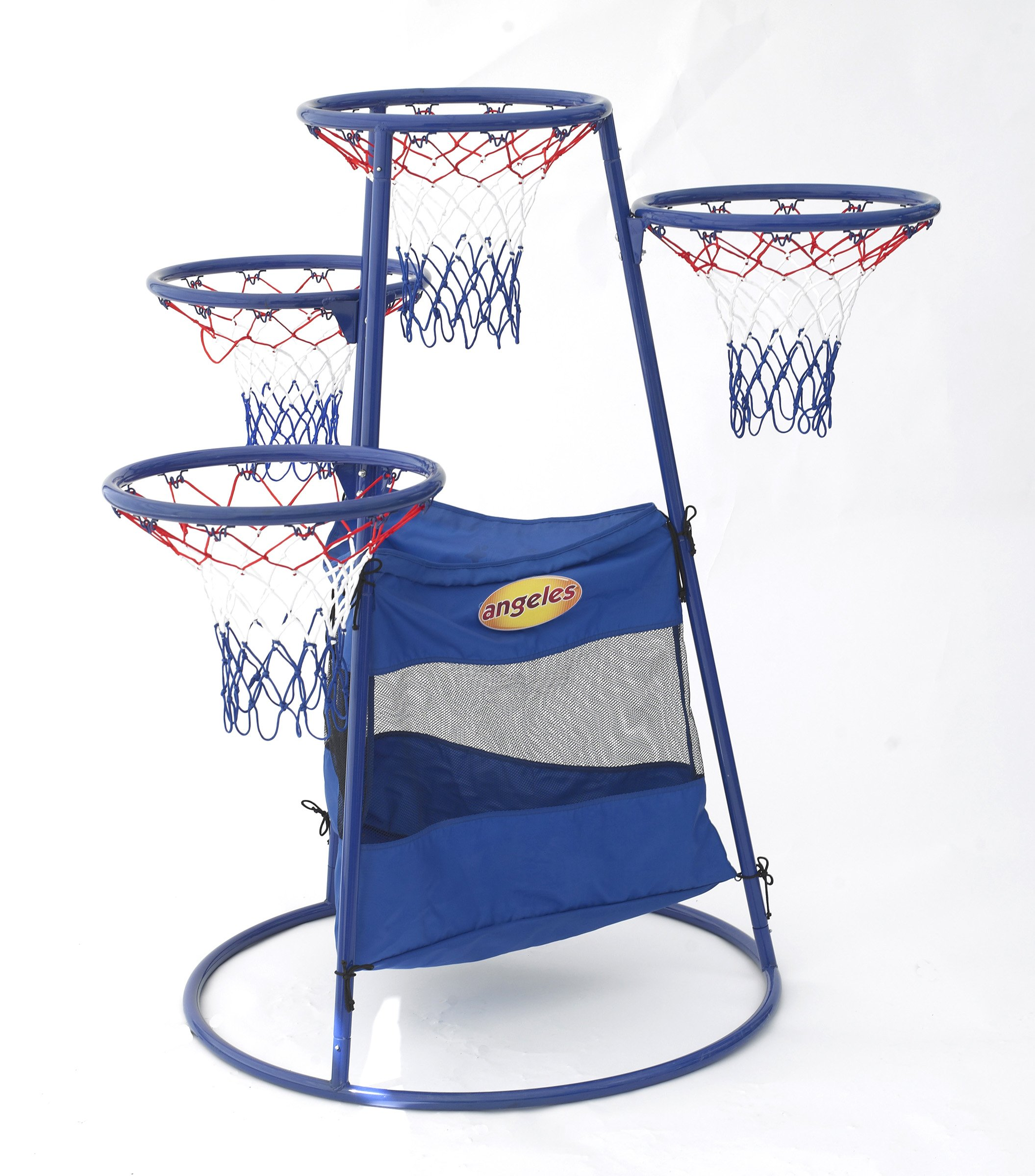 Angeles 4 Rings Basketball Stand with Storage Bag for Kids Active Play Toy (48 x 36 x 54 in) by Angeles (Image #3)