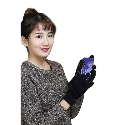 Les Femmes L'hiver Chaud Froid Tricoté Épais Gants Gants Écran Tactile