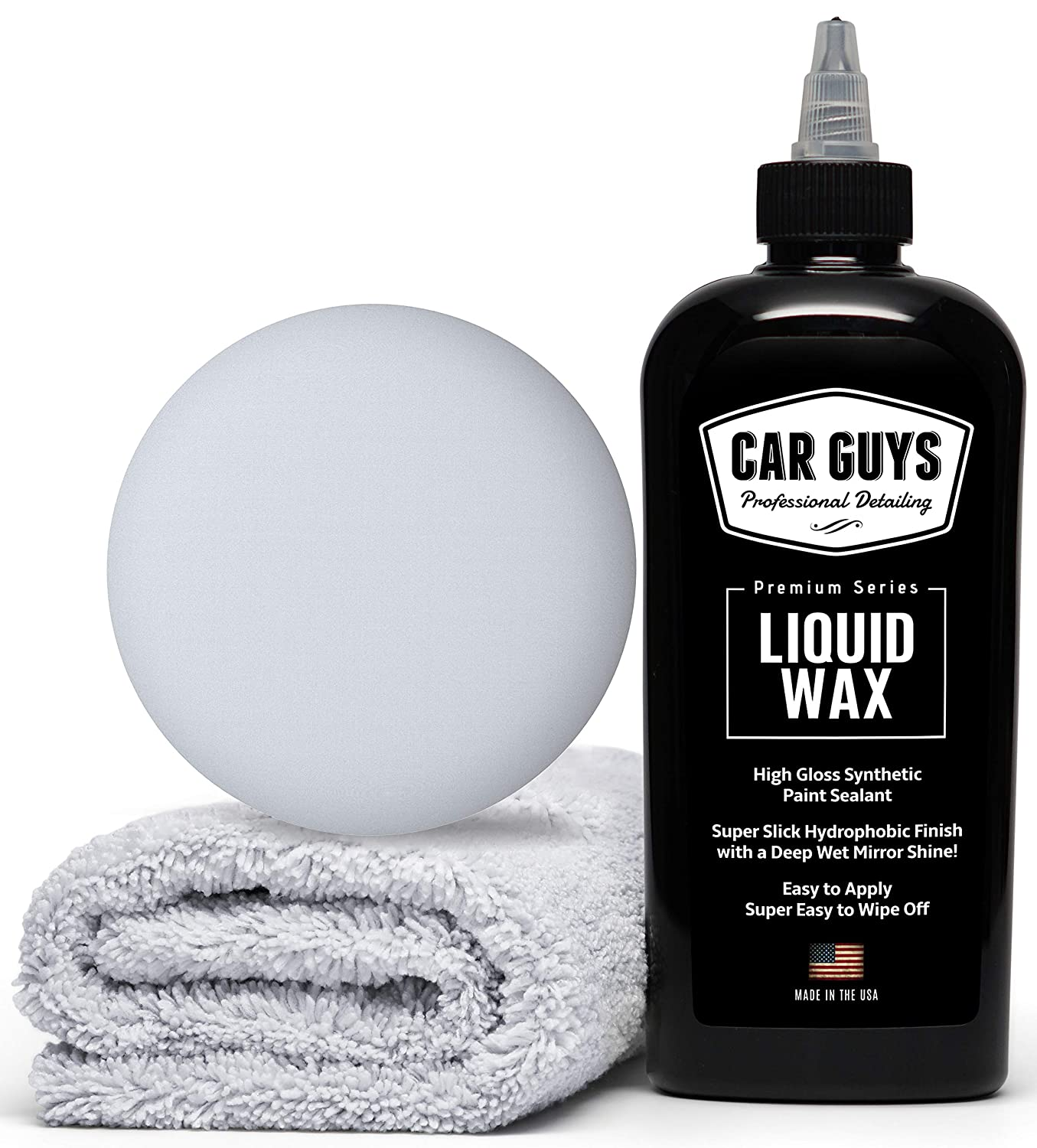 CarGuys Liquid Wax - The Ultimate Car Wax Shine with Polymer Paint Sealant Protection! - 8 oz Kit