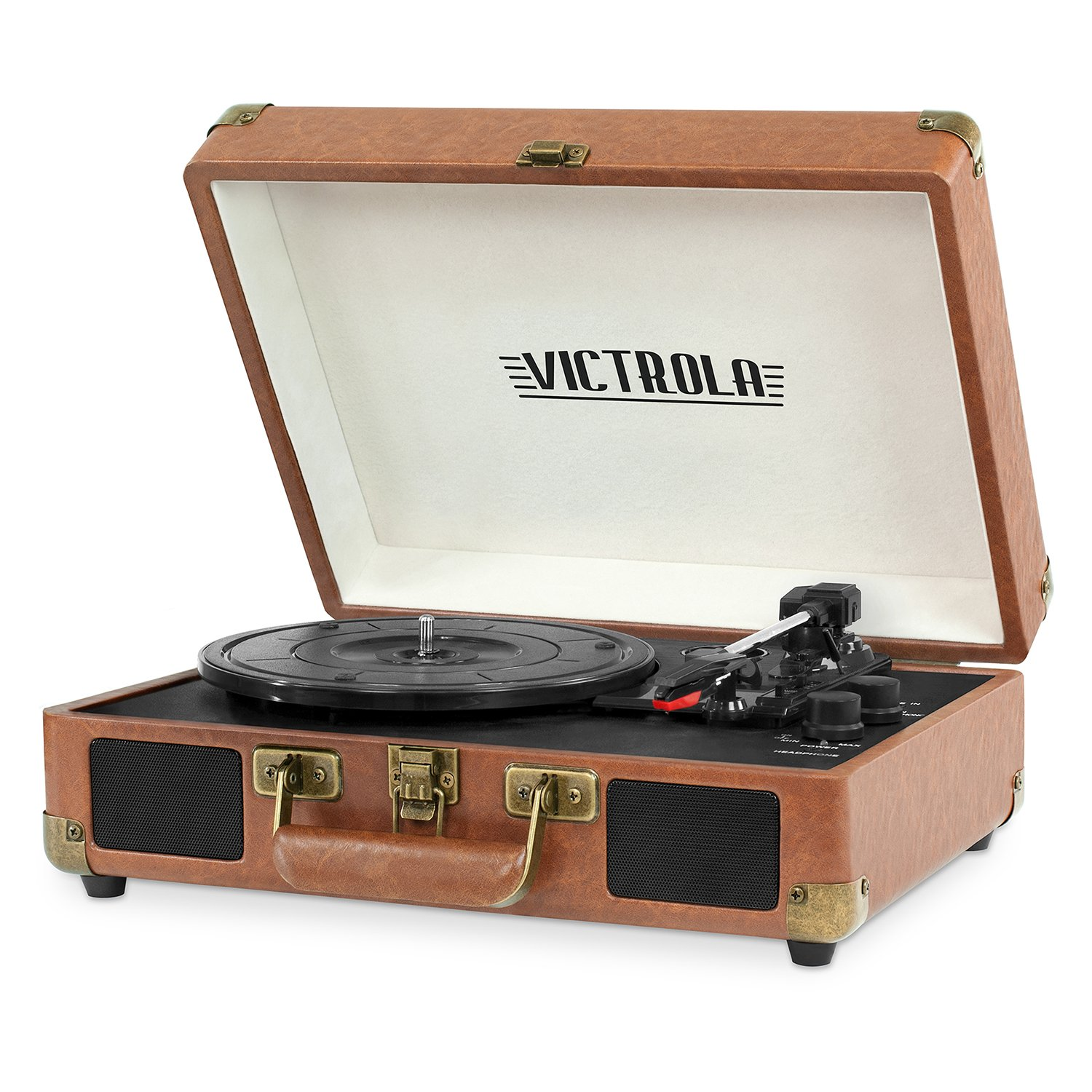 Victrola Bluetooth Suitcase Record Player 3-Speed Turntable by Victrola (Image #3)