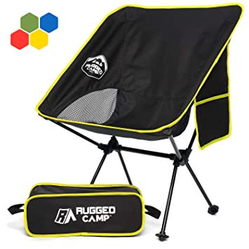 Amazon.com: Rugged Camp Silla plegable portátil, perfecta ...