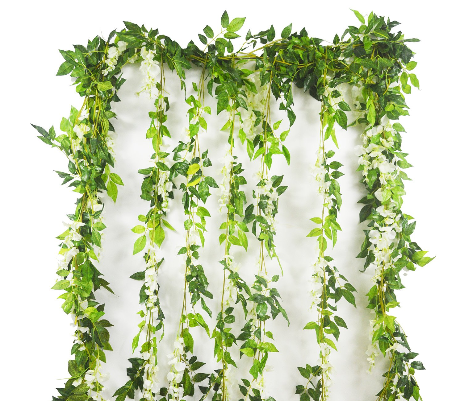 Artificial-Plants-Flowers-5pcs-312ft-Fake-Flower-Wisteria-Ivy-Vine-Faux-Plastic-Silk-Green-Leaves-Hanging-Flowers-Vine-Garland-for-Wedding-Home-Kitchen-Office-Wall-Outdoor-Outside-Party-Decor