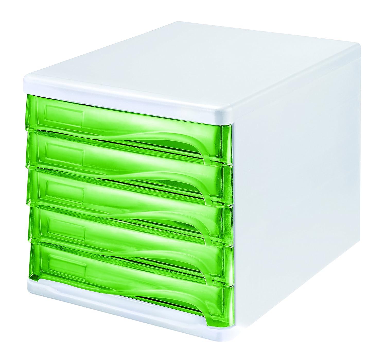 helit h6129450//économie de tiroirs avec 5/compartiments peut /être /écrit sur Gris//Gris clair//Vert Translucide