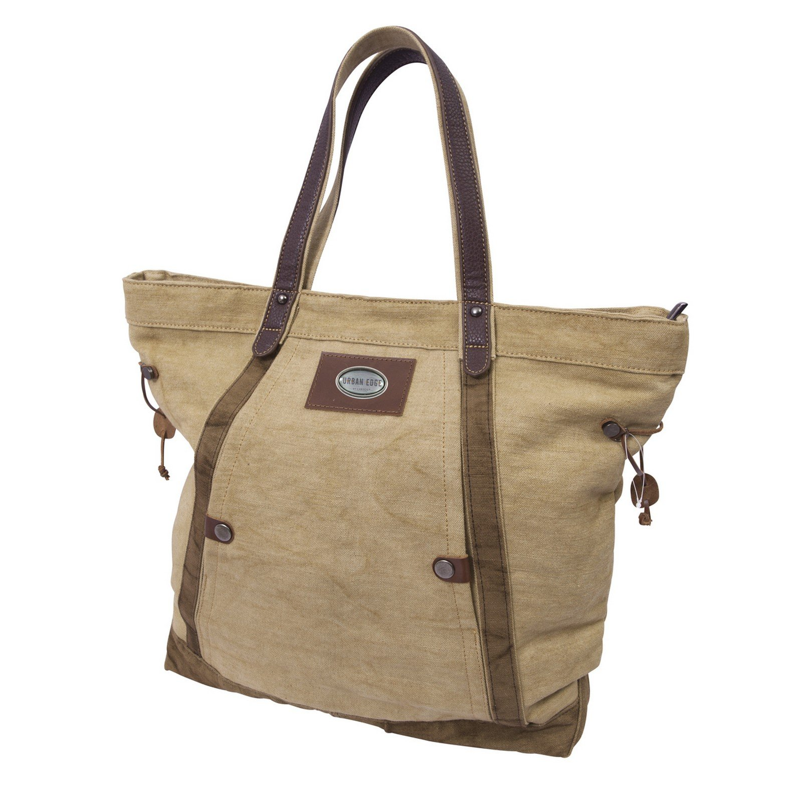 Canyon Outback Urban Edge Ashton 19-Inch Linen Tote Bag, Beige, One Size