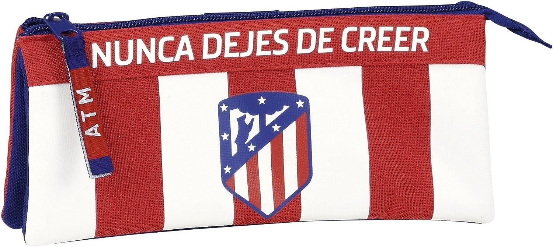 Safta Estuche Escolar Atlético De Madrid Oficial 220x30x100mm: Amazon.es: Juguetes y juegos