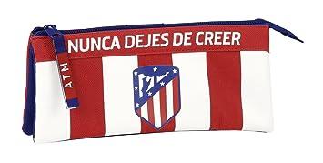 Safta Estuche Escolar Atlético De Madrid Oficial 220x30x100mm
