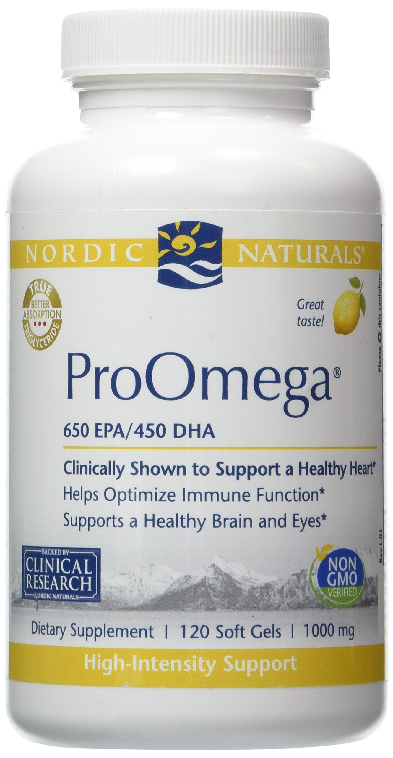 Nordic Naturals - ProOmega (Lemon) 1000 mg- 120ct