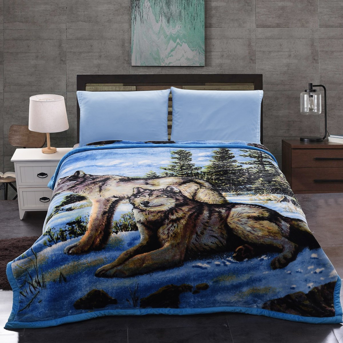 Jml Plush Crystal Velvet Heavy Blanket - Made of 750 GSM Microfiber in 95''x85'' - Faux, Mink and Embossing Dual Layers - Animal Printed in King Size, 9LB Weight by Jml (Image #3)