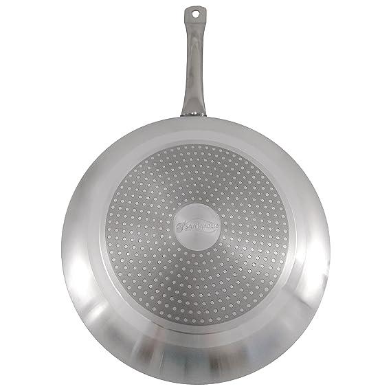 San Ignacio SARTEN Apta para INDUCCION Mango Acero 24cm Elements, Aluminio, Cromado, 24 cm