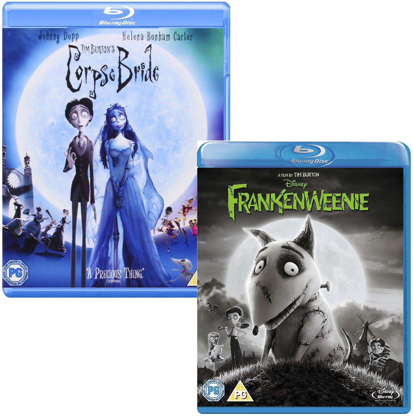Amazon Com Corpse Bride Frankenweenie Tim Burton 2 Movie Bundling Blu Ray Johnny Depp Tim Burton Movies Tv