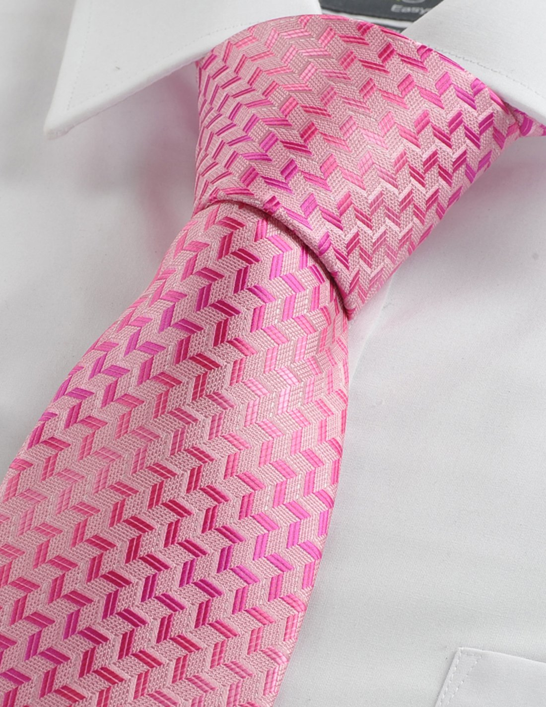 kissties Zigzag Mens Plaid Necktie A Rayas Plaid Patrón corbata de + ...