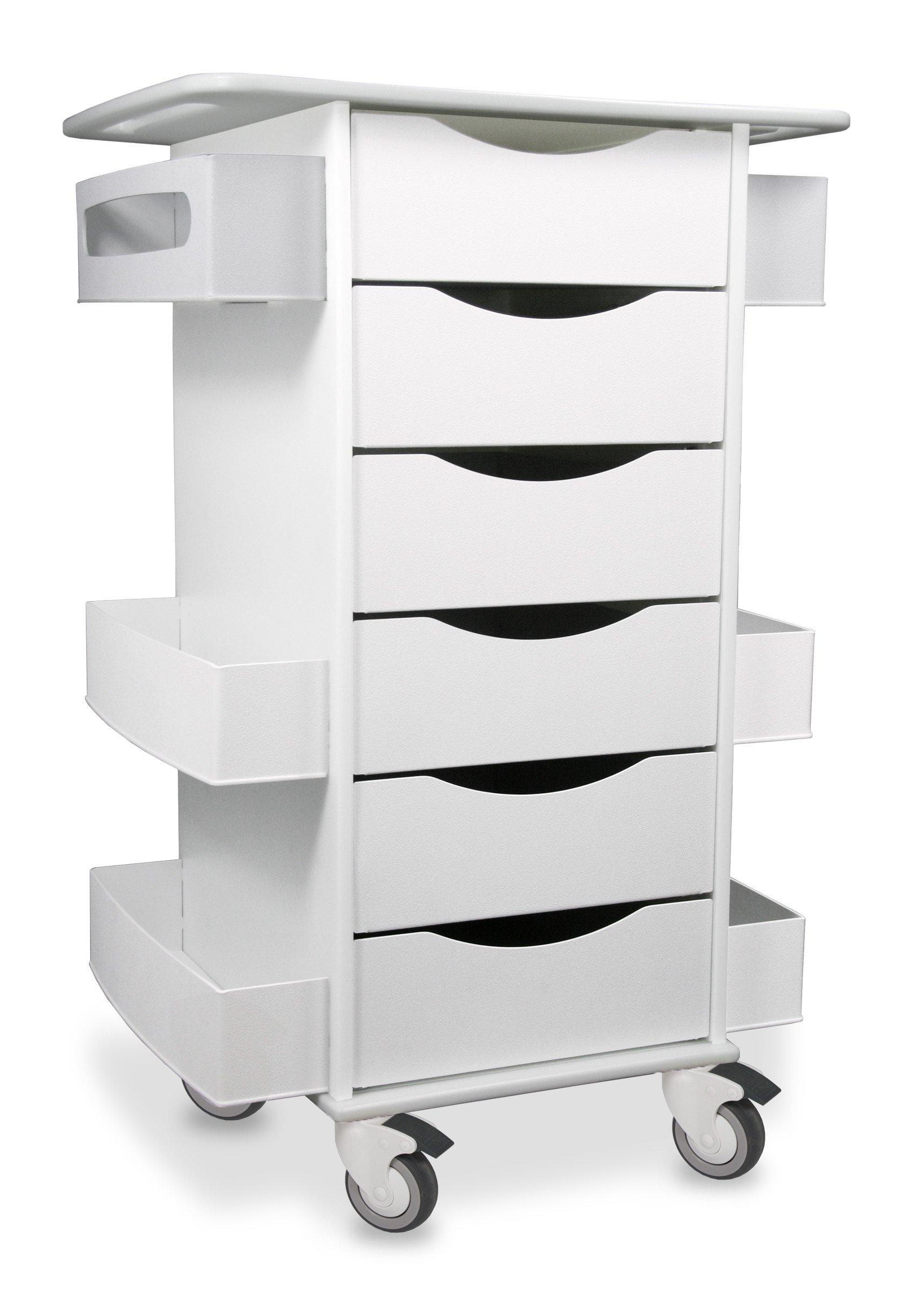 TrippNT 51351 Core Six Drawer Cart, 23'' Width x 35'' Height x 19'' Depth, White