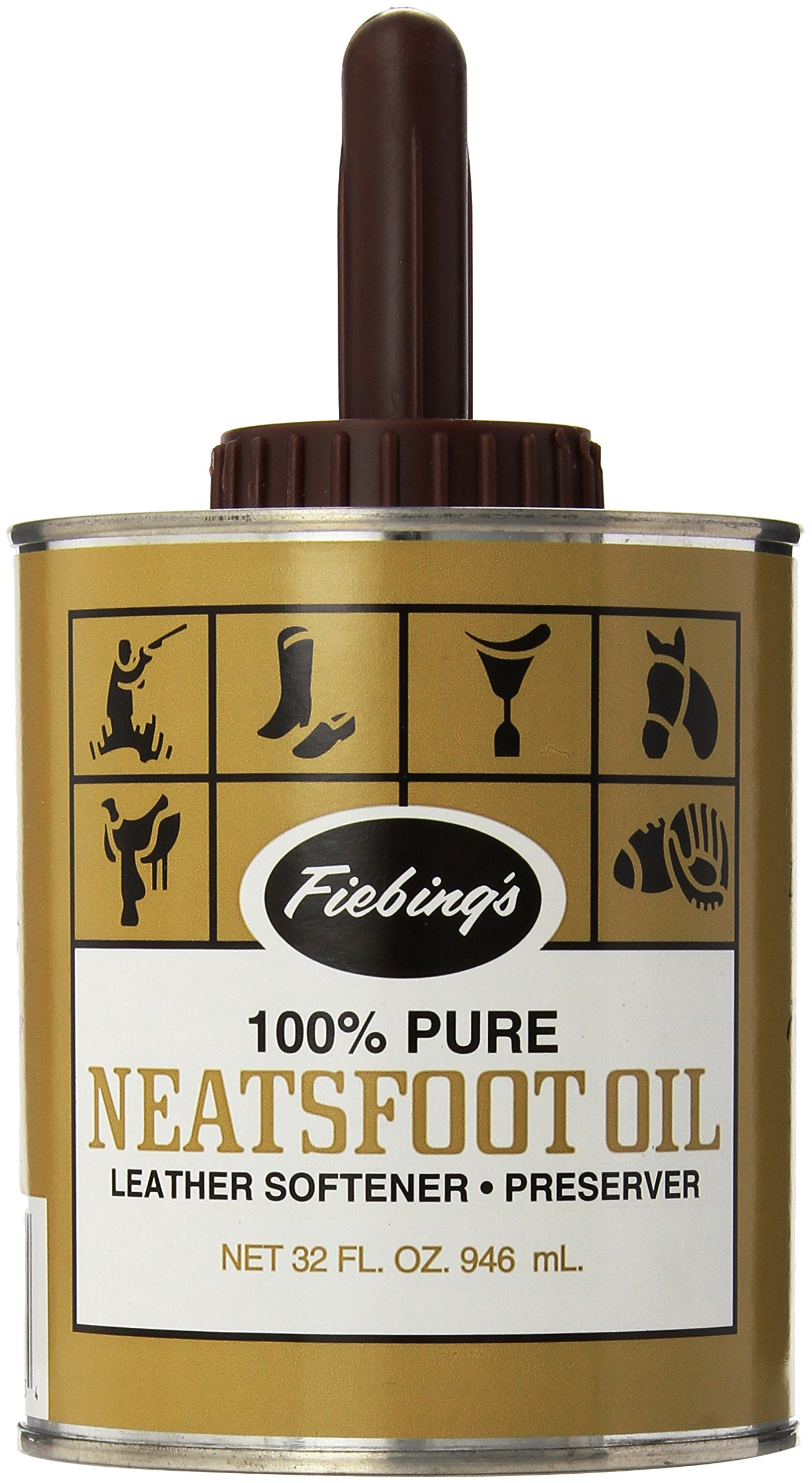 Fiebing's Pure Neatsfoot Oil with Applicator, 32 oz by Fiebing's
