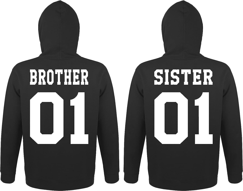 Couple Partenaire 2X Sweat Pull /à Capuche//mod/èle Brother /& Sister//pour Homme /& Femme//diff/érentes Tailles et Couleurs TRVPPY