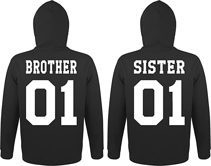5XL Hoodie Pullover Best Friends Druck 2 Stk Partner Look Viele Farben XS