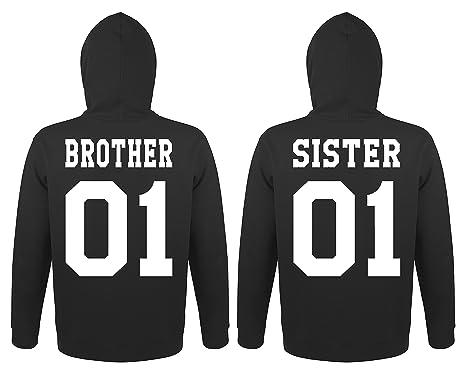 86f2b9701bfa TRVPPY Partner Herren + Damen Hoodies Brother   Sister, in Versch. Farben   Amazon.de  Bekleidung