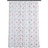Amazon Basics Fun and Playful Rainbow Raindrop Printed Pattern Kids Microfiber Bathroom Shower Curtain - Rainbow Raindrop, 72