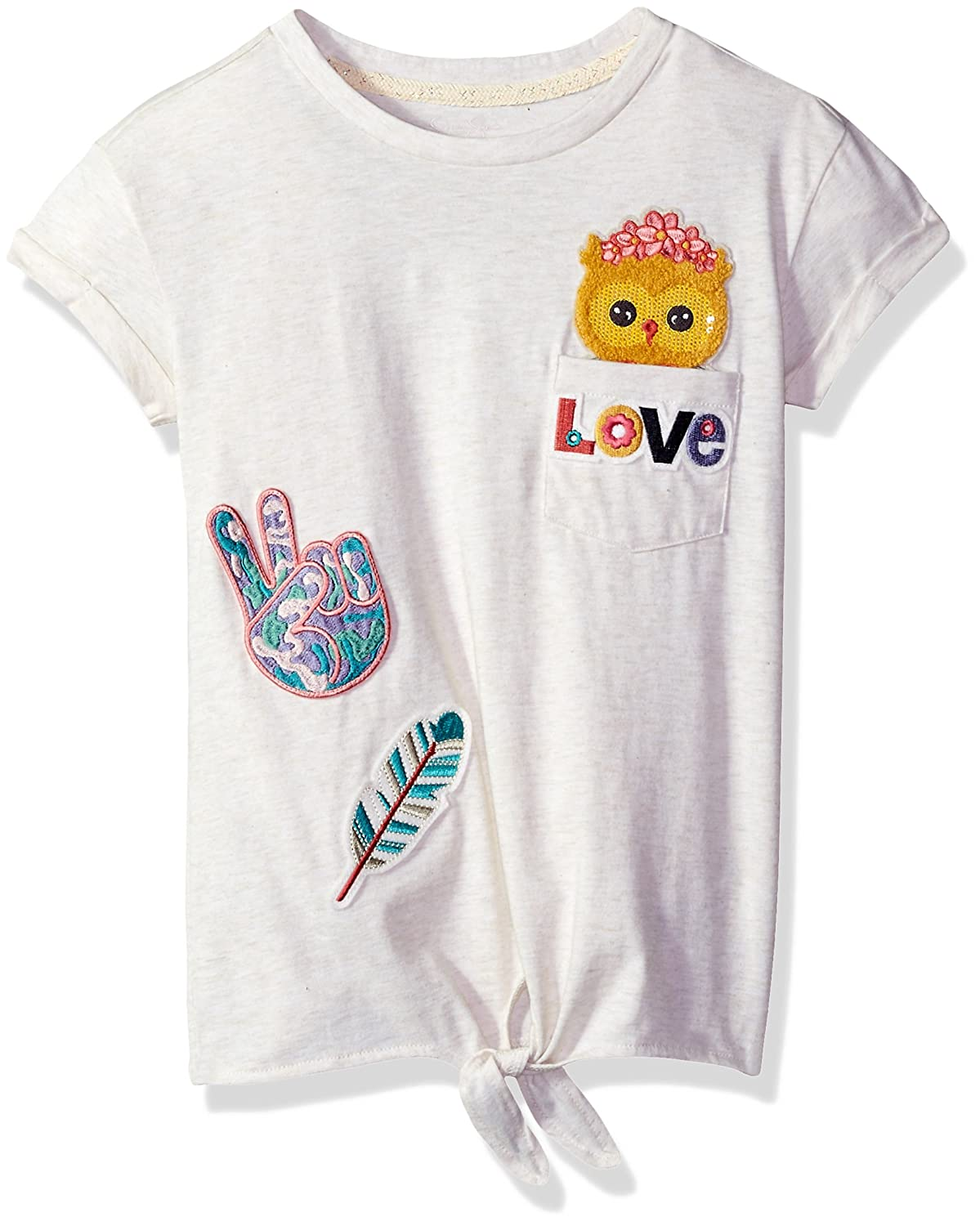 Jessica Simpson Girls Big Olivia Tie Front Pocket Critter Tee