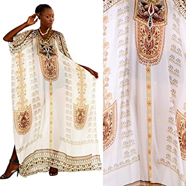 7bffac732e7 Image Unavailable. Image not available for. Color  Silk kaftan Beautiful  Womans one Piece Jewelled Full Length Resort ...