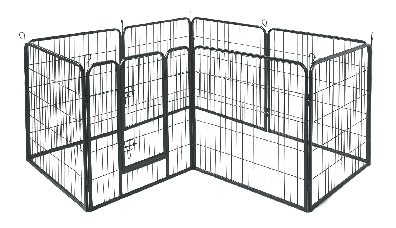 amazon com allmax metal pet fence black pet crates pet supplies
