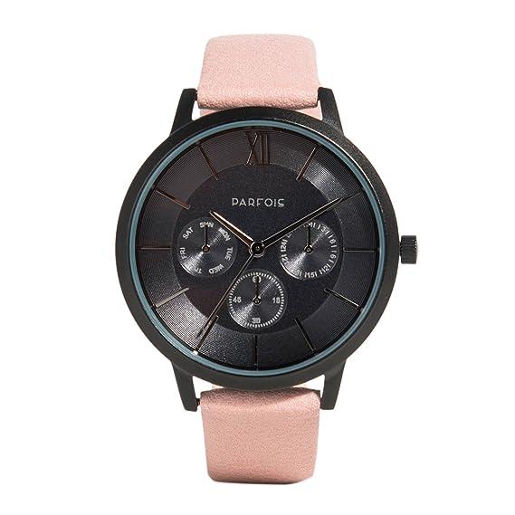 Parfois - Reloj Round - Mujeres - Tallas Única - Rosa: Amazon.es: Relojes