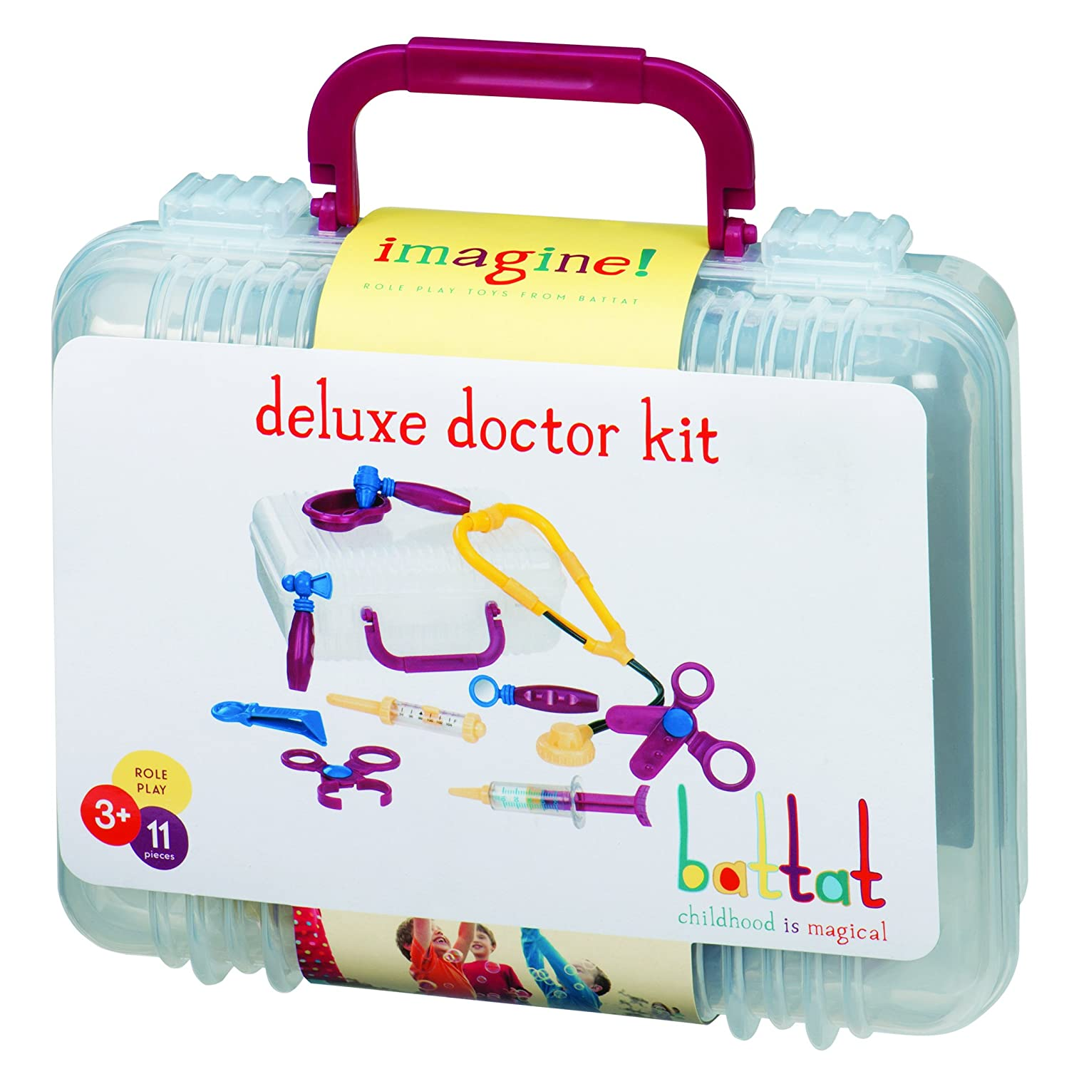 Battat - Deluxe Doctor - Toy Medical Kit for Kids (11 Pieces) Branford LTD BT2537Z