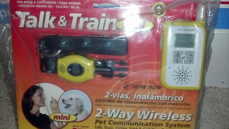 Amazon.com : TALK & TRAIN MINI FOR DOGS & CATS UNDER 13.6KG/30LB - 2-WAY WIRELESS : Pet Identification Tags : Pet Supplies