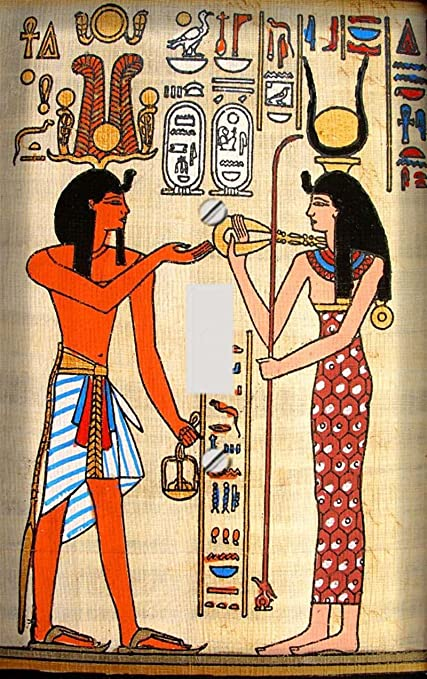 Ancient Egyptian Couple Decorative Switchplate Cover - Single Switch ...