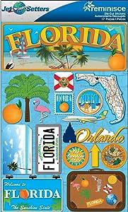 Reminisce Jet Setters 2 3-Dimensional Sticker, Florida