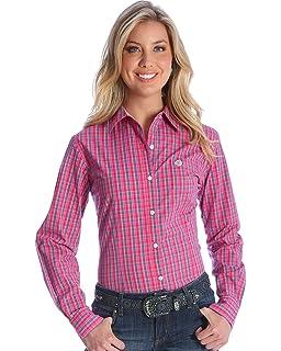 d18ae606 Amazon.com: Wrangler Women's George Strait Floral Print Shirt ...
