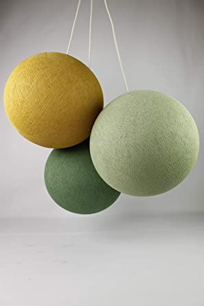 Cotton Ball Lights Triple Sage Green - Bolas de algodón, color ...