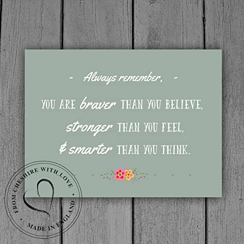 Amazoncom Winnie The Pooh Quote Print You Are Braver Than You