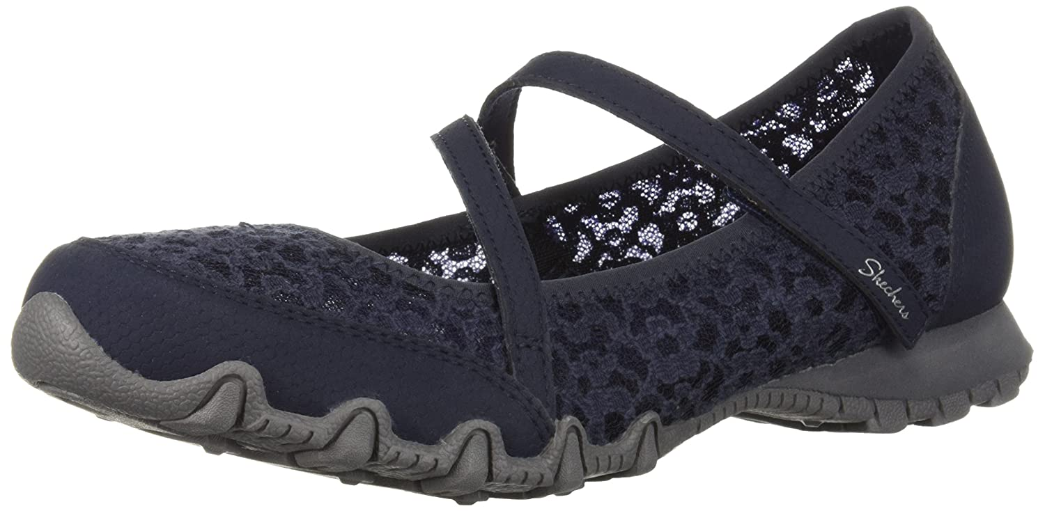 Skechers Modern Comfort Women's レディース BIKERS PROVOCATIVE Mary-Jane with Laced upper detail, A RELAXED FITTM B079K1VPRV 9 B(M) US|ネイビー ネイビー 9 B(M) US