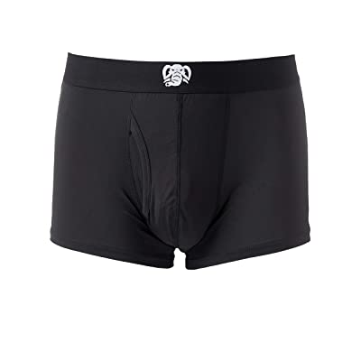 Trunks Inc. Classic Boxer Brief with Dual Pouch Aero-Cool Power Stretch Fabric & Easy Access Fly at Men's Clothing store
