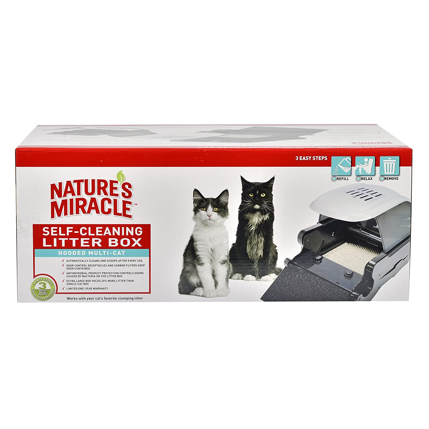 Amazon Nature s Miracle Hooded Multi Cat Self Cleaning Litter
